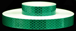 3M 973-77 Green Flexible Prismatic Reflective Tape, 1-inch