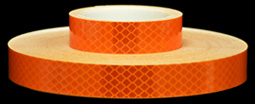 3M 973-74 Orange Flexible Prismatic Reflective Tape, 1-inch