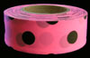 Polka-Dot Flagging Tape - Black on Fluorescent Pink