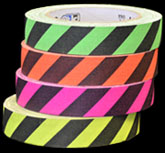 Fluorescent Hazard Striped Tape