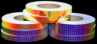 Metallic Sunburst and Fire Opal Tapes