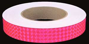 Fluorescent Pink Prismatic Tape