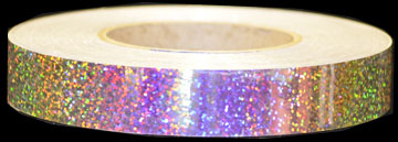 Red Galaxy Holographic Sequins Hoop Tape