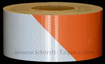 Orange-Striped Hazard Reflective Tape