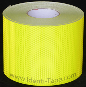 Fluorescent Lime-Yellow Reflective Fire Truck Tape