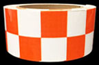 Orange & White Checkered Tape
