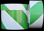 Green & White Hazard Tape
