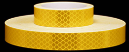 3M 973-71 Yellow Flexible Prismatic Reflective Tape, 1-inch