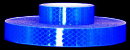 3M 973-75 Blue Flexible Prismatic Reflective Tape, 1-inch