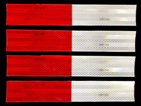 3M 983-326 DOT Red-White Reflective Tape