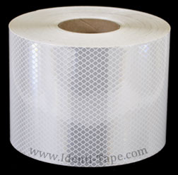 3M 973-10 White Flexible Prismatic Reflective Tape 6-inch