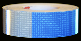 Blue & White Reflective Tape