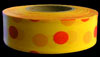 Polka-Dot Flagging Tape - Red on Yellow