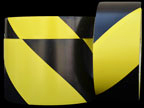 Black & Yellow Hazard Tape